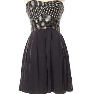 Hutch silk strapless dress